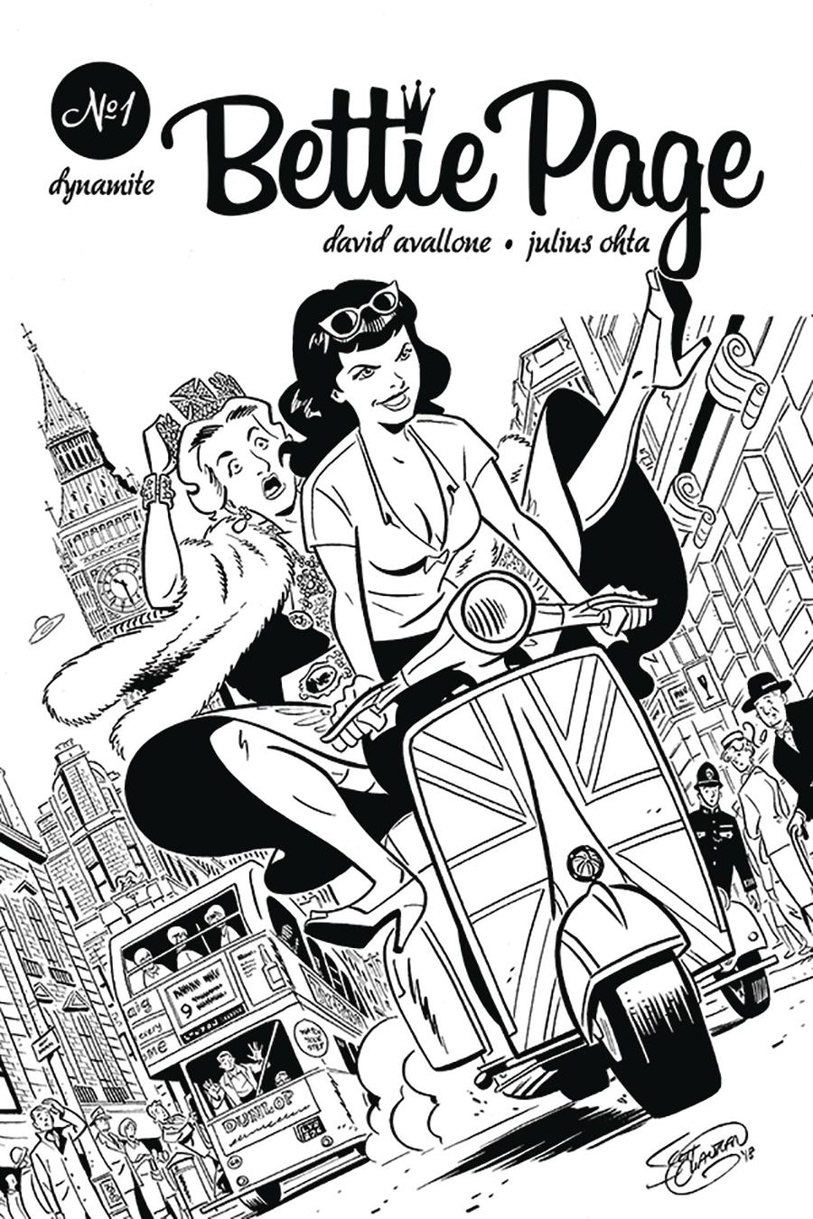 Bettie Page Vol 2 #1 Cover I Incentive Scott Chantler Virgin Cover