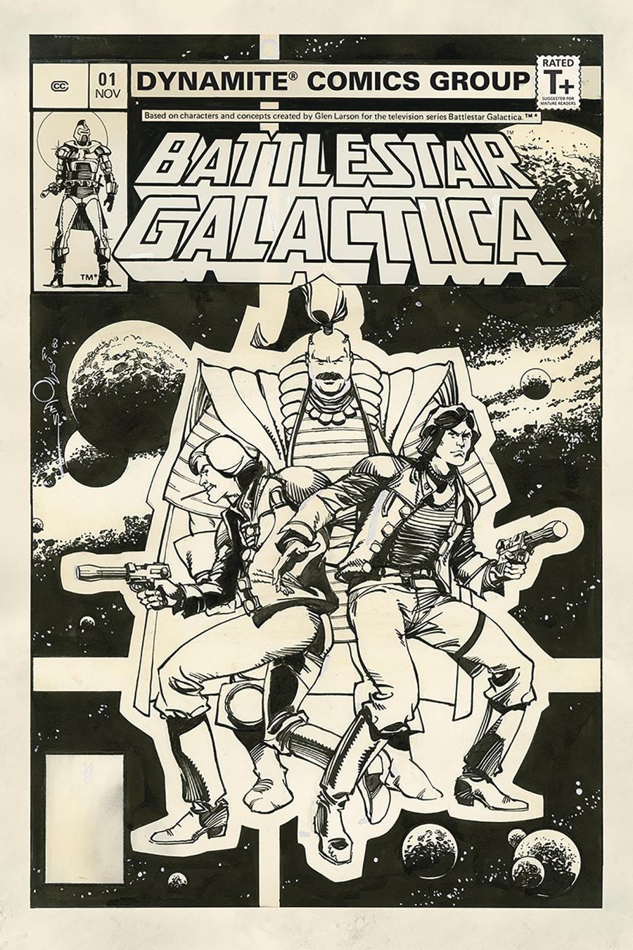 Battlestar Galactica Classic #1 Cover F Incentive Walter Simonson Black & White Cover