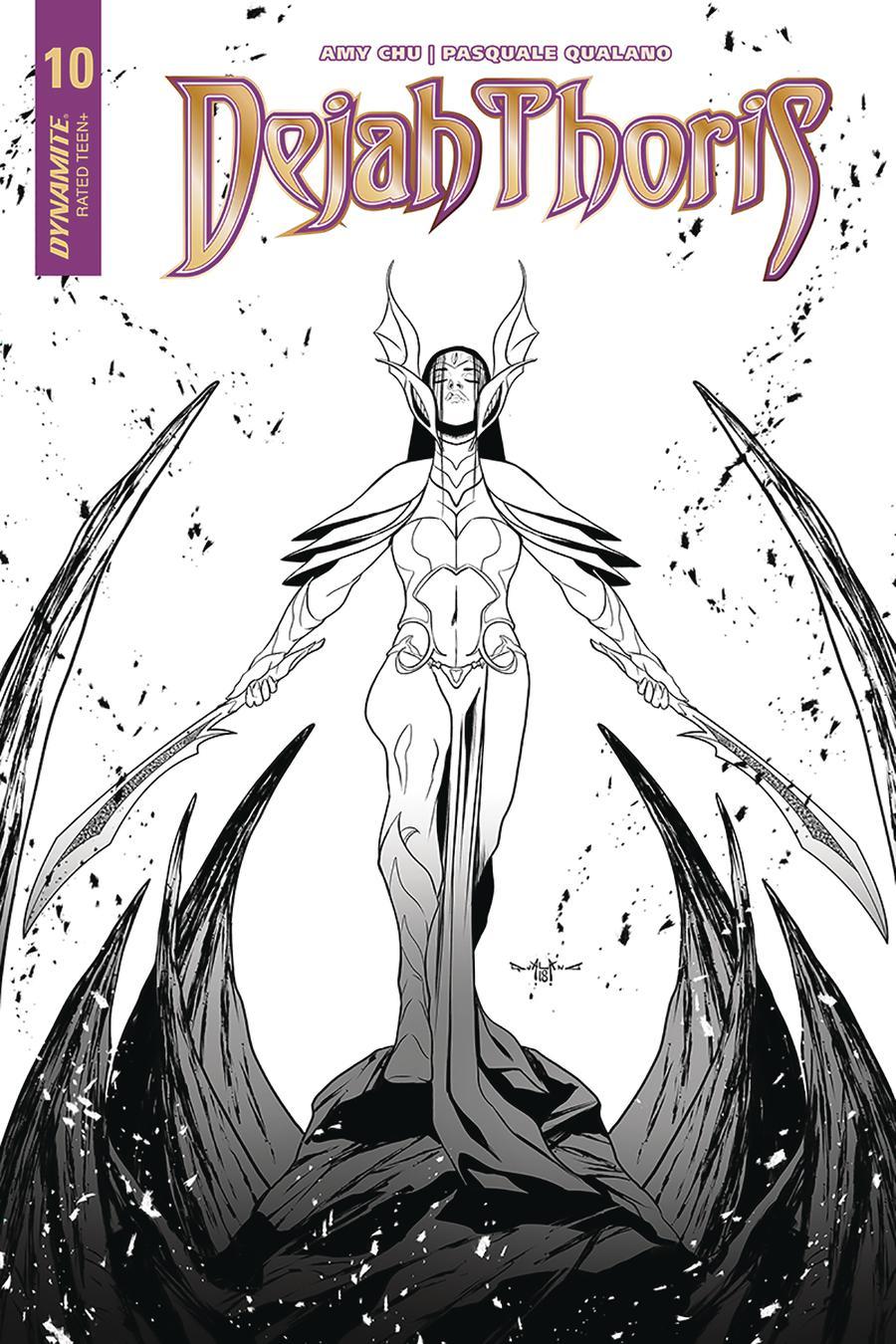 Dejah Thoris Vol 2 #10 Cover F Incentive Pasquale Qualano Black & White Cover