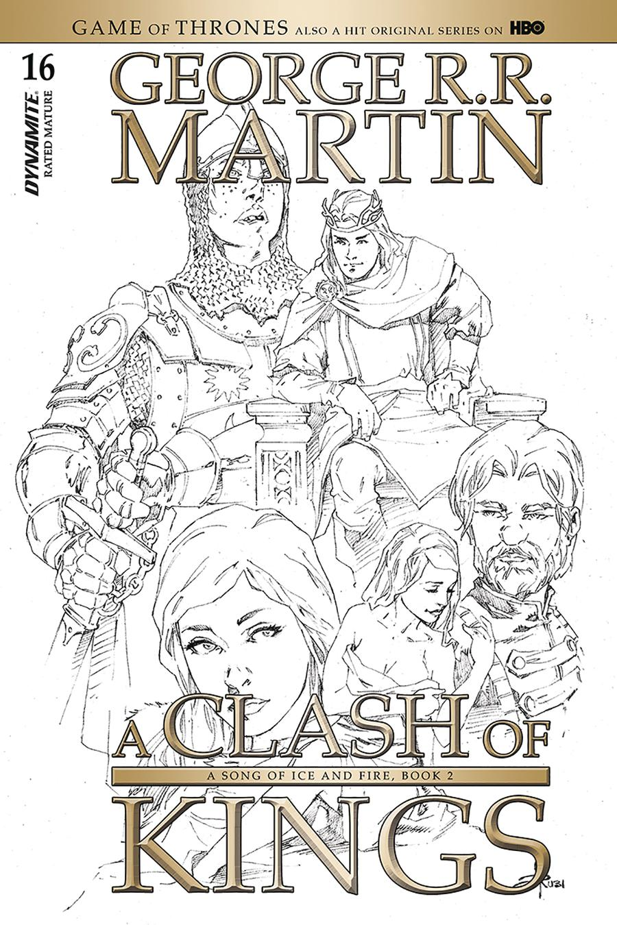 Game Of Thrones Clash Of Kings #16 Cover D Incentive Mel Rubi Black & White Cover