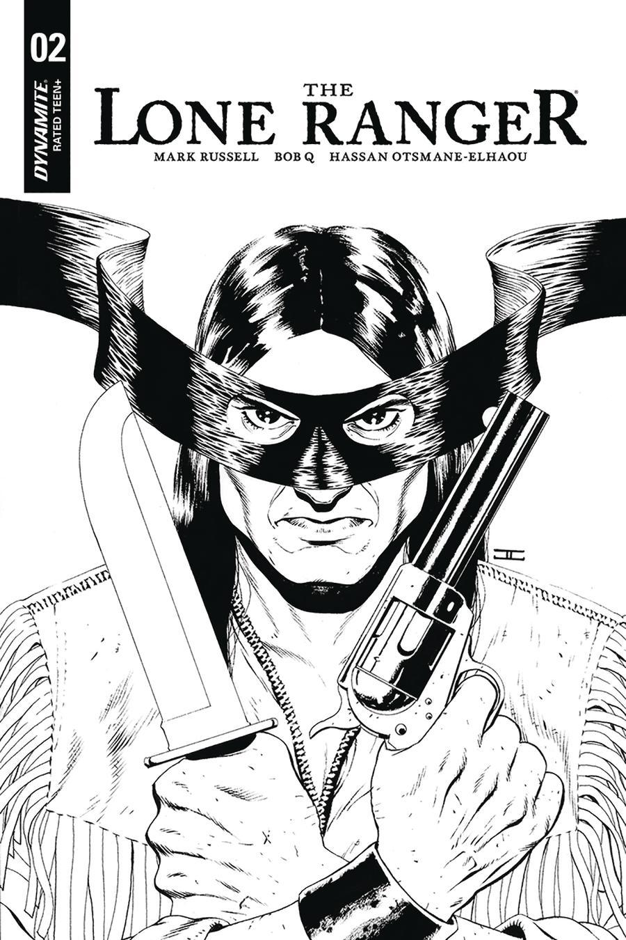 Lone Ranger Vol 6 #2 Cover B Incentive John Cassaday Black & White Cover