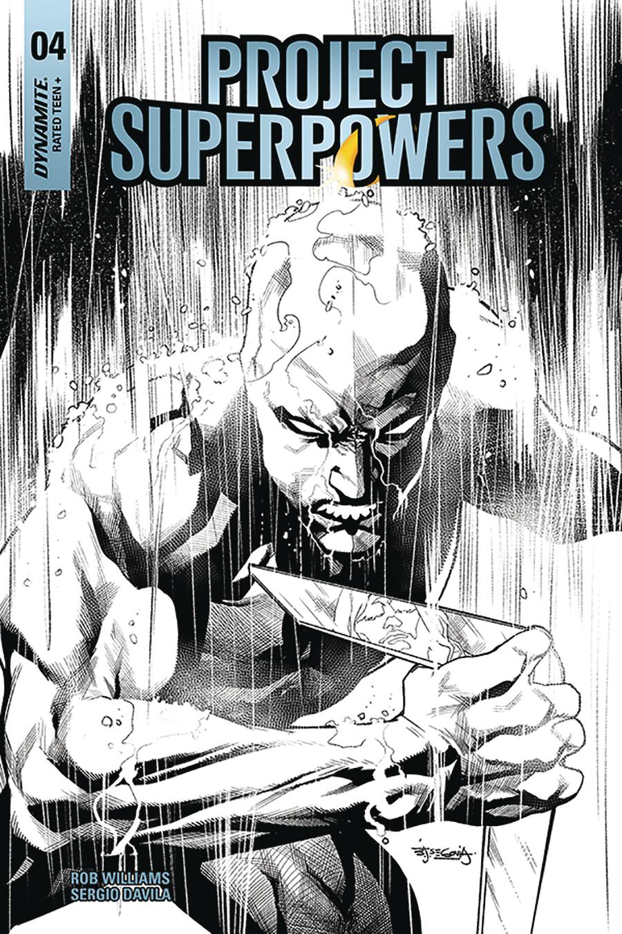 Project Superpowers Vol 3 #4 Cover H Incentive Stephen Segovia Black & White Cover