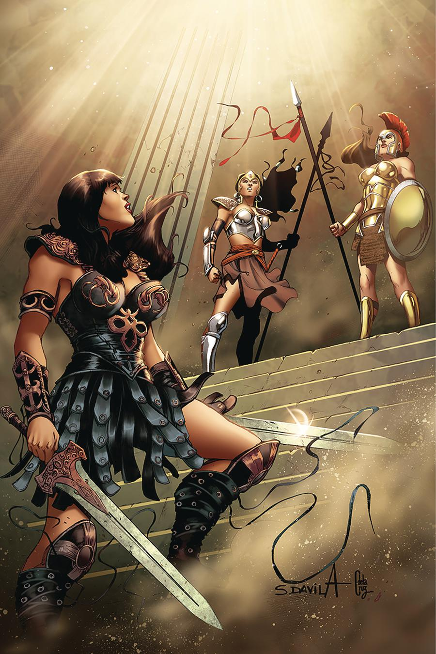 Xena Vol 2 #10 Cover C Incentive Sergio Davila Virgin Cover
