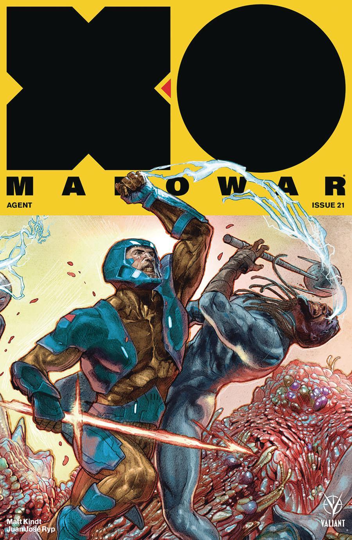 X-O Manowar Vol 4 #21 Cover E Incentive Renato Guedes Interlocking Variant Cover