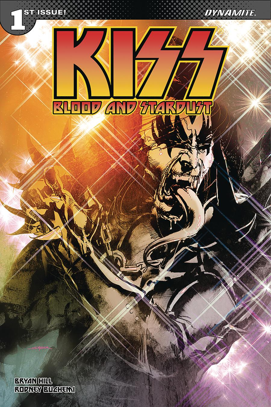 KISS Blood And Stardust #1 Cover O Signed & Remarked By Ken Haeser