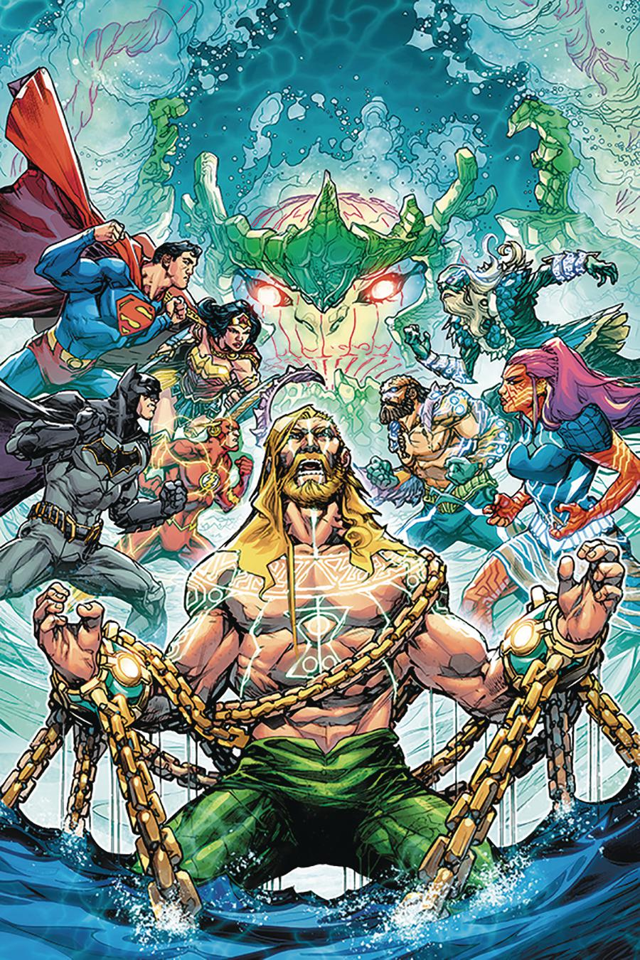 Justice League Aquaman Drowned Earth #1 Cover C DF Signed By Howard Porter (Drowned Earth Part 1)