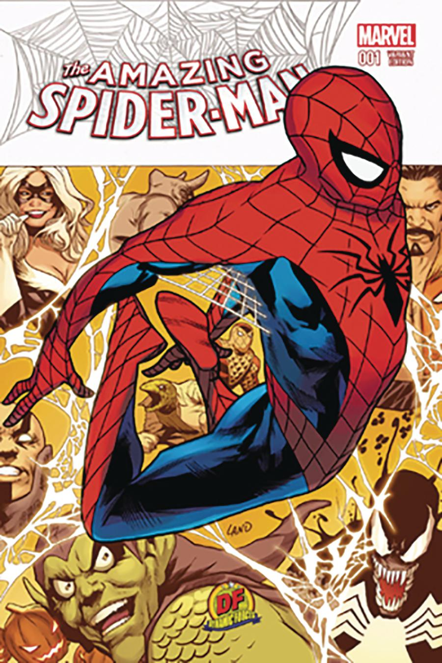 Amazing Spider-Man Vol 4 #1 Cover W DF Exclusive Greg Land Variant Cover