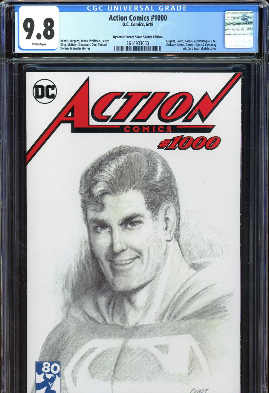 Action Comics Vol 2 #1000 Cover Z-X DF Exclusive Curt Swan Variant Cover CGC Graded