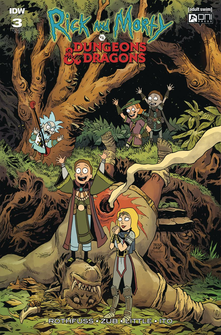 Rick And Morty vs Dungeons & Dragons #3 Cover D Incentive Tess Fowler Variant Cover