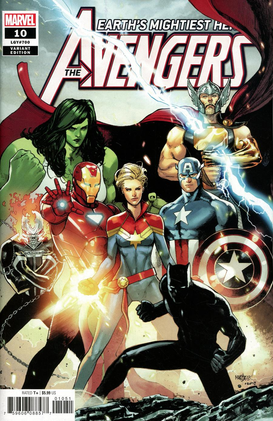 Avengers Vol 7 #10 Cover G Incentive David Marquez Variant Cover (#700)