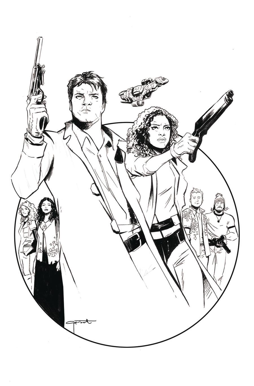 Firefly #1 Cover G Incentive Lee Garbett Black & White Virgin Cover