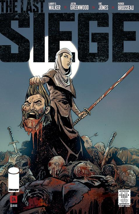 Last Siege #4 Cover D Variant Justin Greenwood CBLDF Charity Uncensored Cover