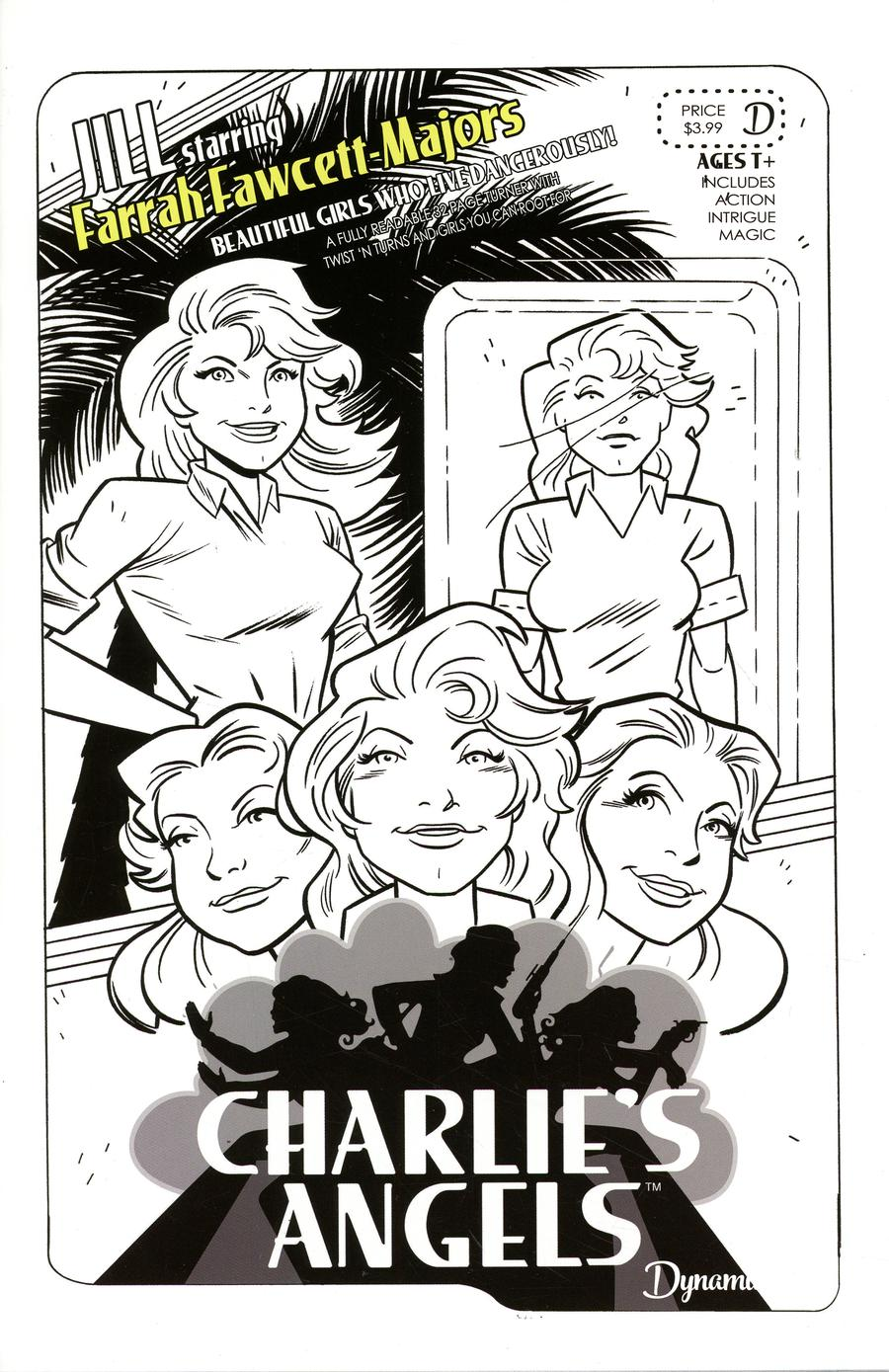 Charlies Angels #1 Cover I Variant SDCC 2018 Exclusive Sketch Cover