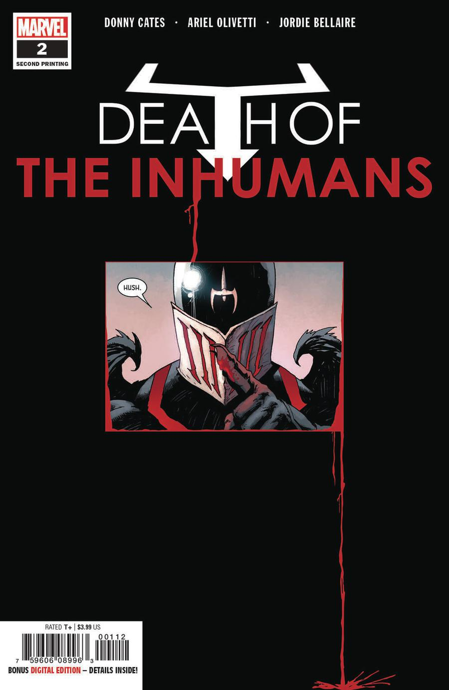 Death Of The Inhumans #2 Cover C 2nd Ptg Variant Ariel Olivetti Cover