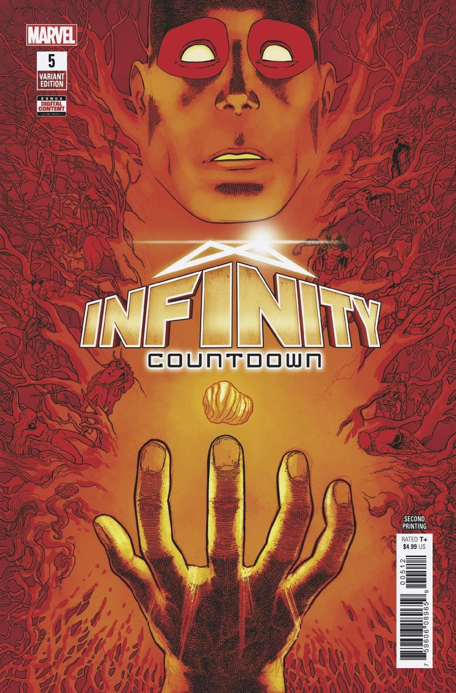 Infinity Countdown #5 Cover E 2nd Ptg Variant Mike Hawthorne Cover
