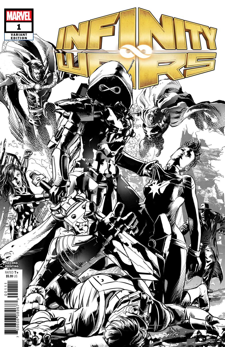Infinity Wars #1 Cover N 2nd Ptg Variant Mike Deodato Cover