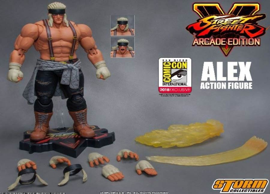 Street Fighter V Arcade Edition 1/12 - Alex SDCC Exclusive Special Edition Action Figure