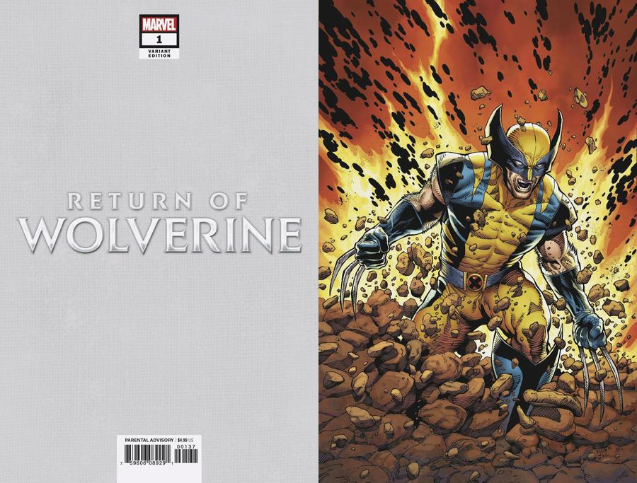 Return Of Wolverine #1 Cover O Incentive Steve McNiven Current Costume Virgin Variant Cover