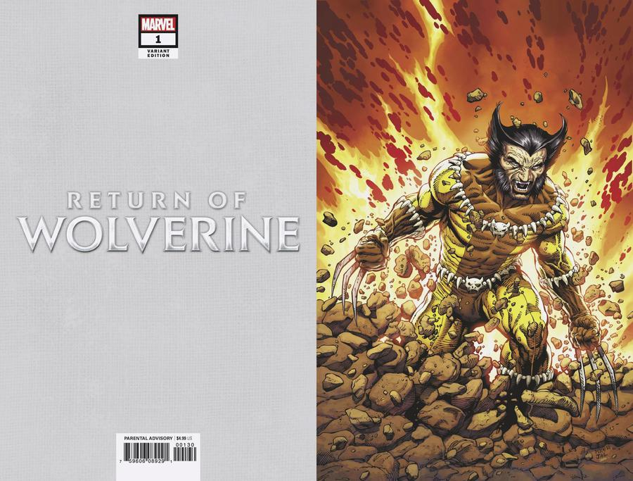 Return Of Wolverine #1 Cover P Incentive Steve McNiven Fang Costume Virgin Variant Cover