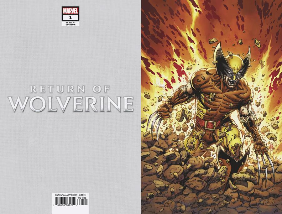 Return Of Wolverine #1 Cover Q Incentive Steve McNiven Brown & Tan Costume Virgin Variant Cover