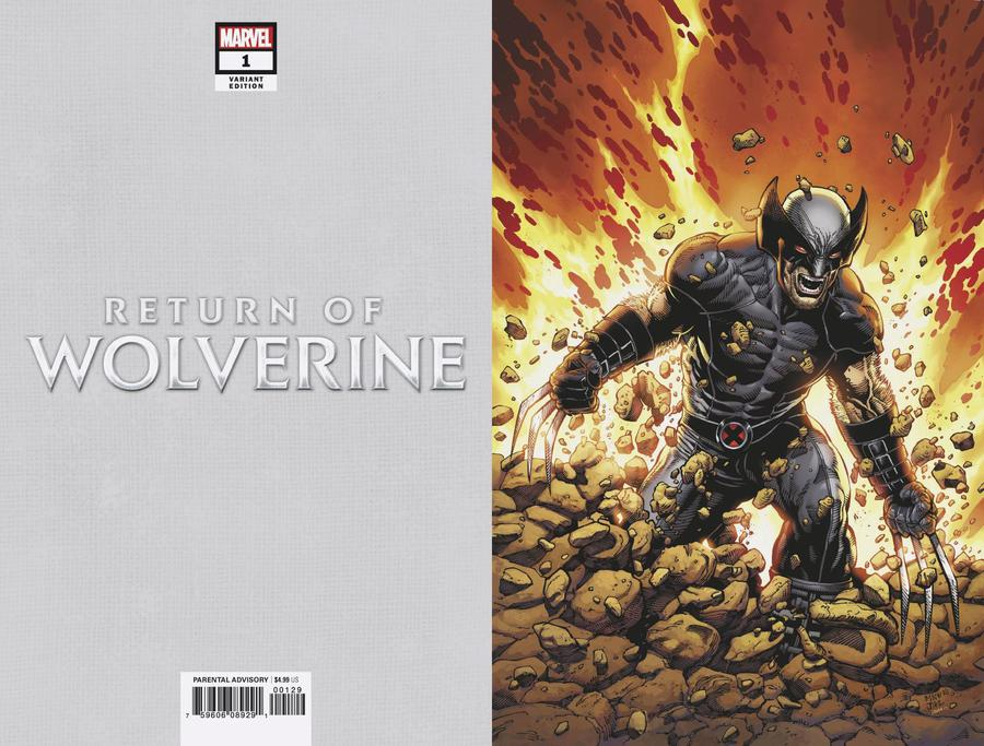 Return Of Wolverine #1 Cover R Incentive Steve McNiven X-Force Costume Virgin Variant Cover