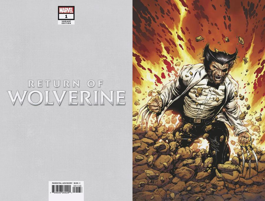 Return Of Wolverine #1 Cover S Incentive Steve McNiven Patch Costume Virgin Variant Cover