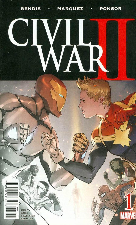 Civil War II #1 Cover Z-B Half Sketch Variant Cover