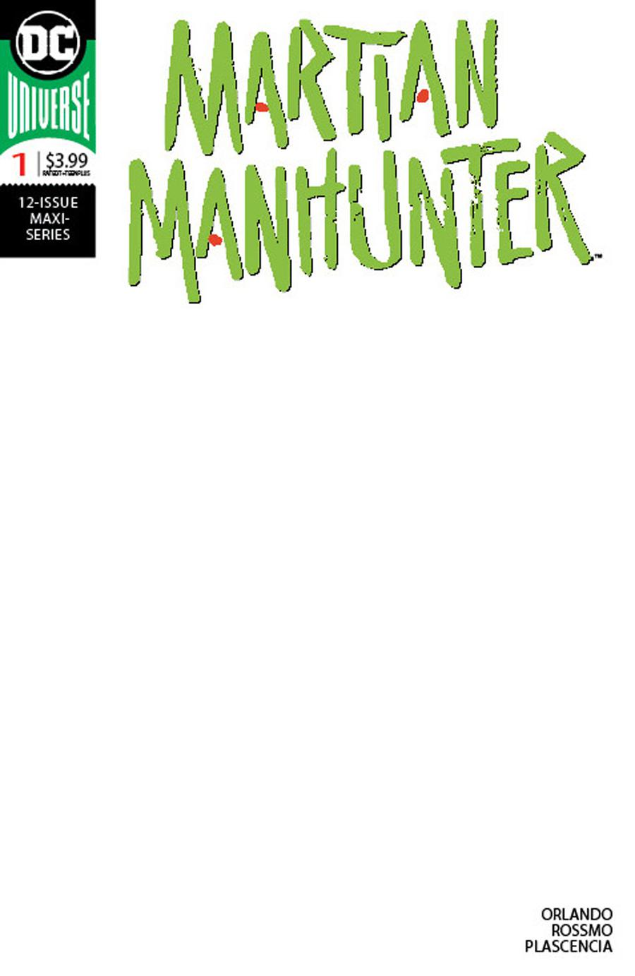 Martian Manhunter Vol 5 #1 Cover C Variant Blank Cover