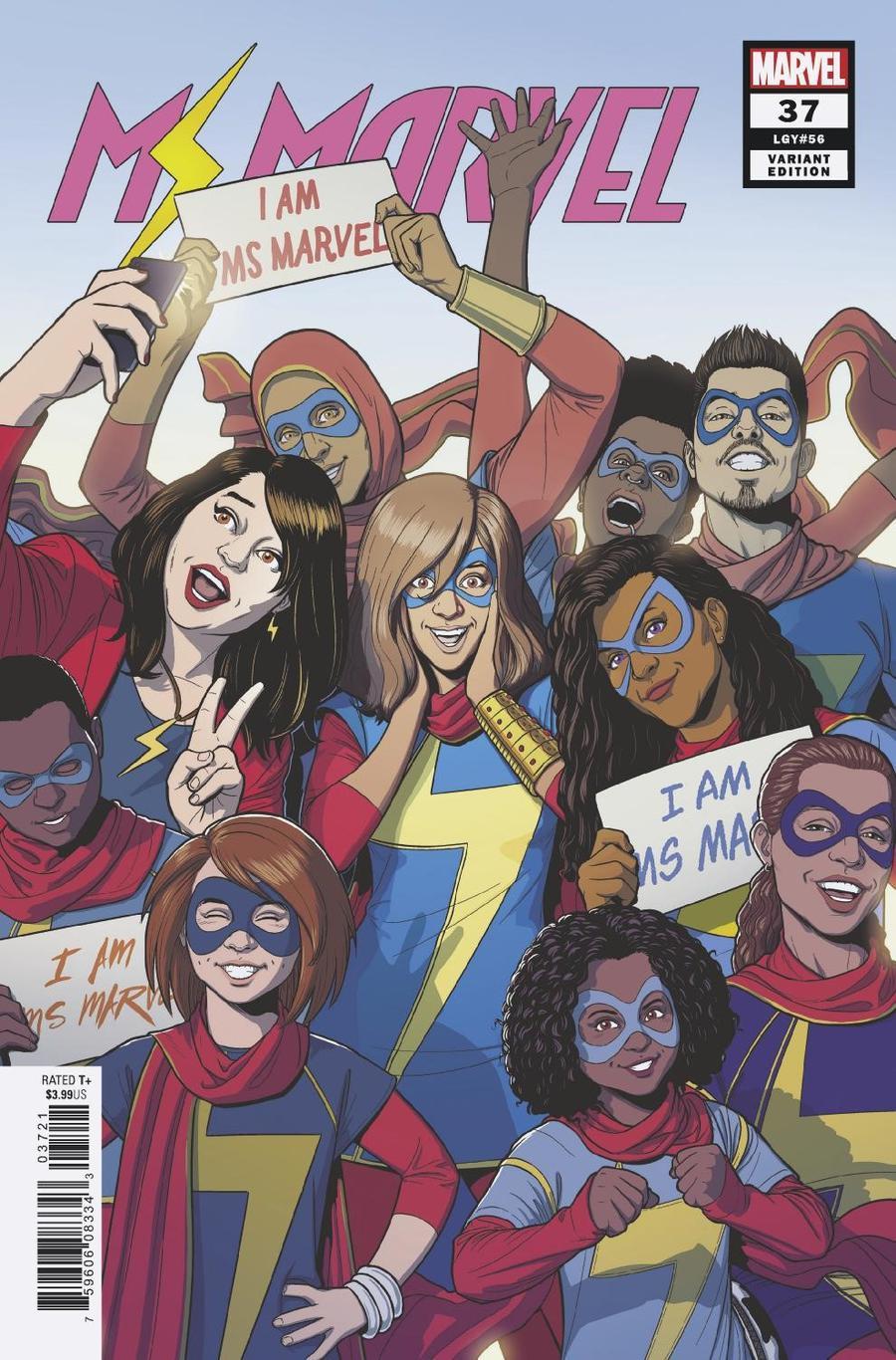Ms Marvel Vol 4 #37 Cover B Variant Jamie McKelvie Cover
