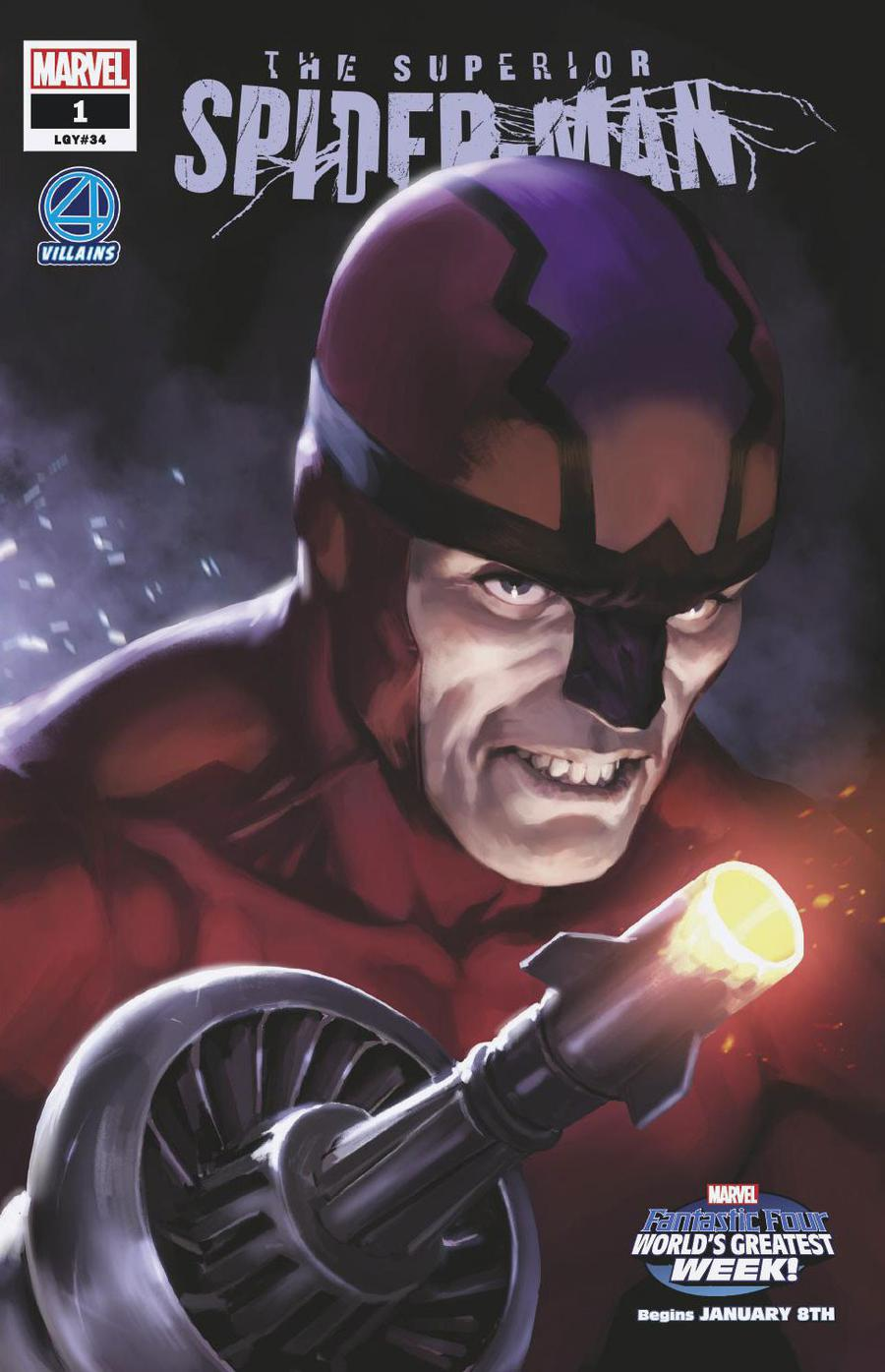 Superior Spider-Man Vol 2 #1 Cover B Variant Marko Djurdjevic Fantastic Four Villains Cover (Spider-Geddon Tie-In)