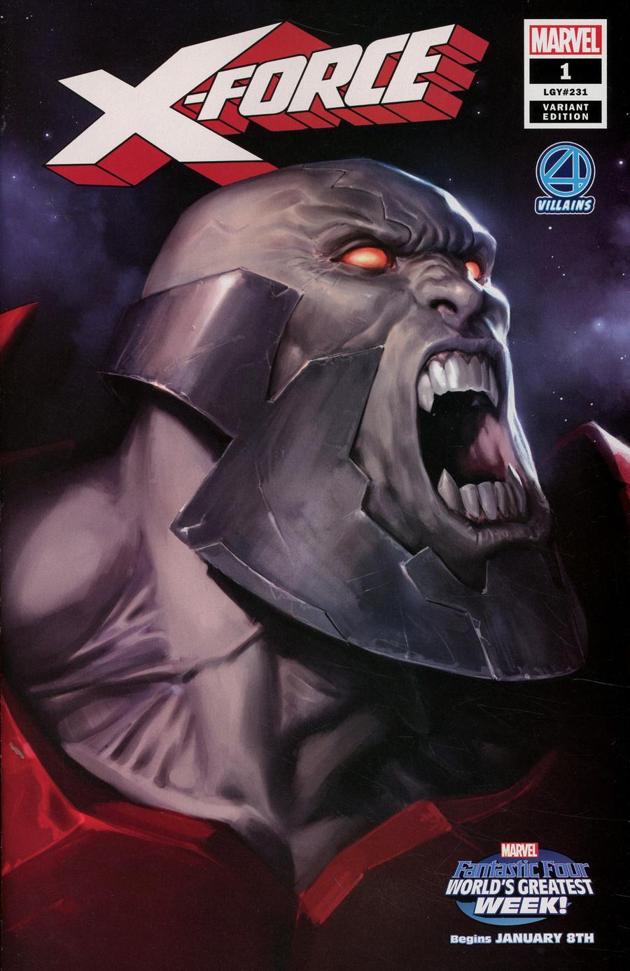 X-Force Vol 5 #1 Cover B Variant Marko Djurdjevic Fantastic Four Villains Cover
