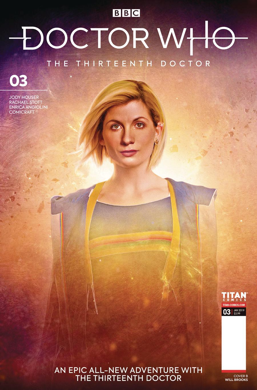 Doctor Who 13th Doctor #3 Cover B Variant Will Brooks Cover