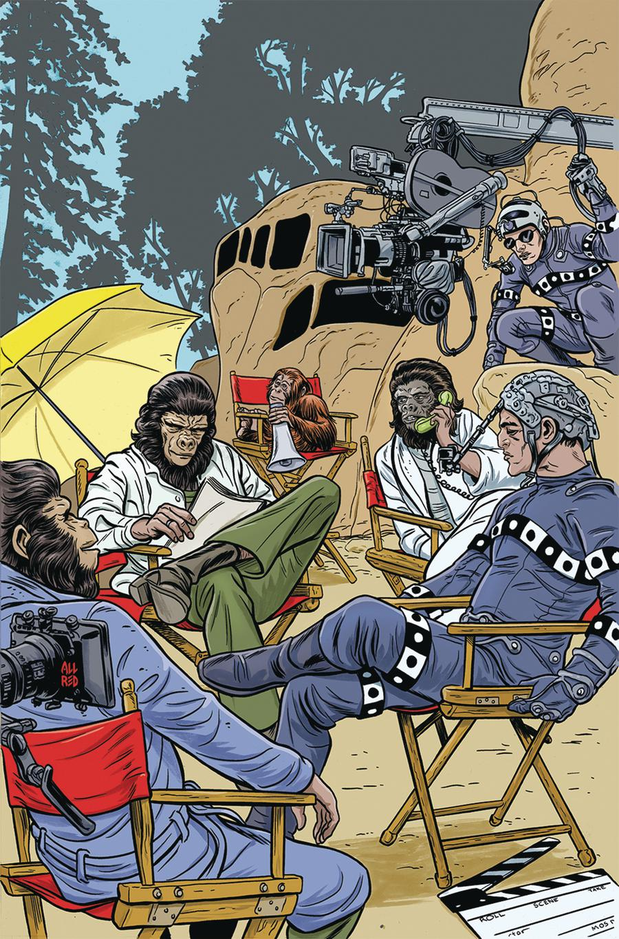 Planet Of The Apes Simian Age #1 Cover B Variant Michael Allred & Laura Allred Cover