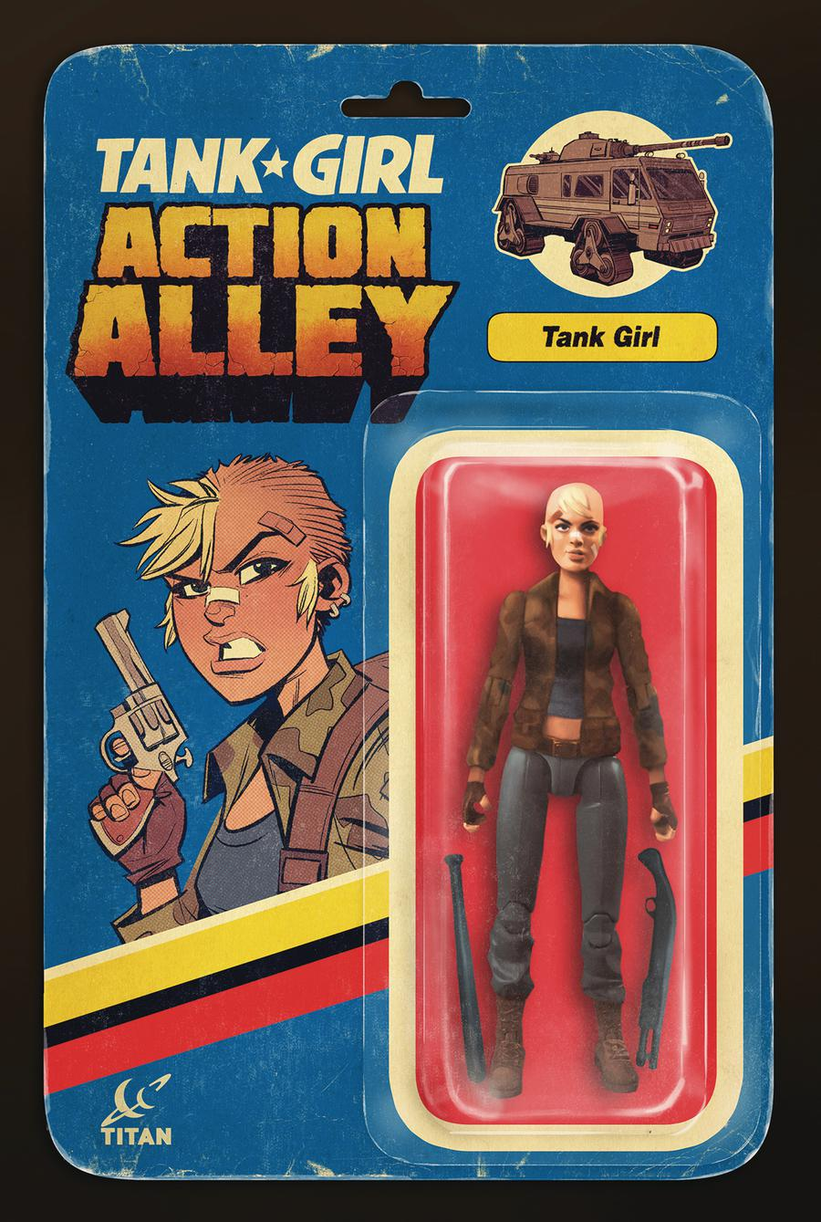 Tank Girl Vol 3 #1 Action Alley Cover B Variant Brett Parson Action Figure Cover
