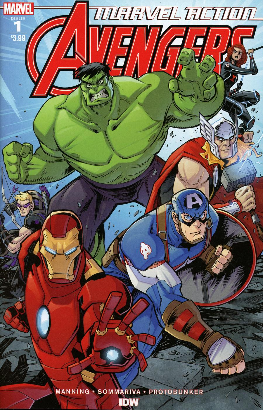 Marvel Action Avengers #1 Cover A Regular Jon Sommariva Cover