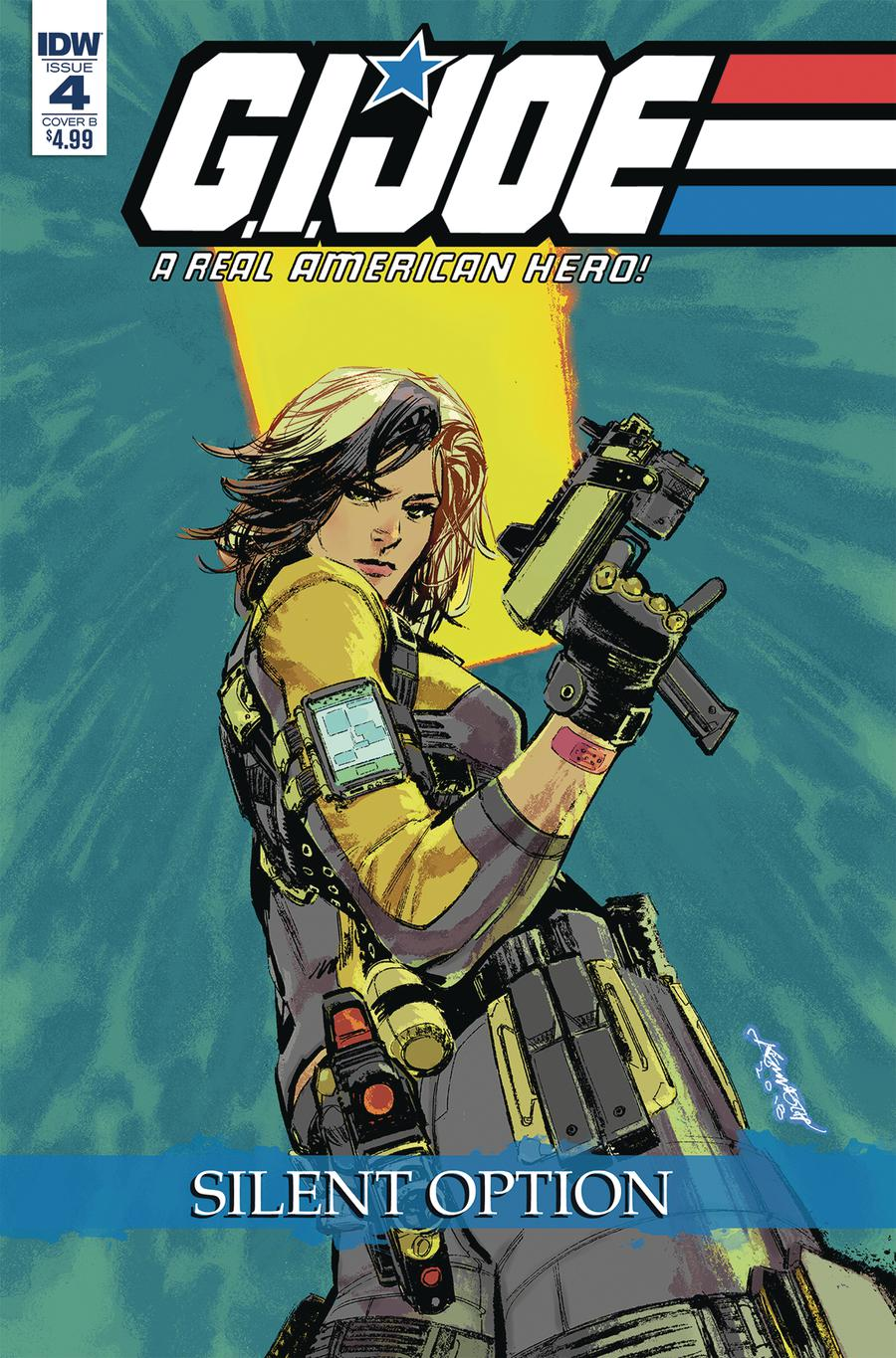 GI Joe A Real American Hero Silent Option #4 Cover B Variant Kenneth Lo Cover