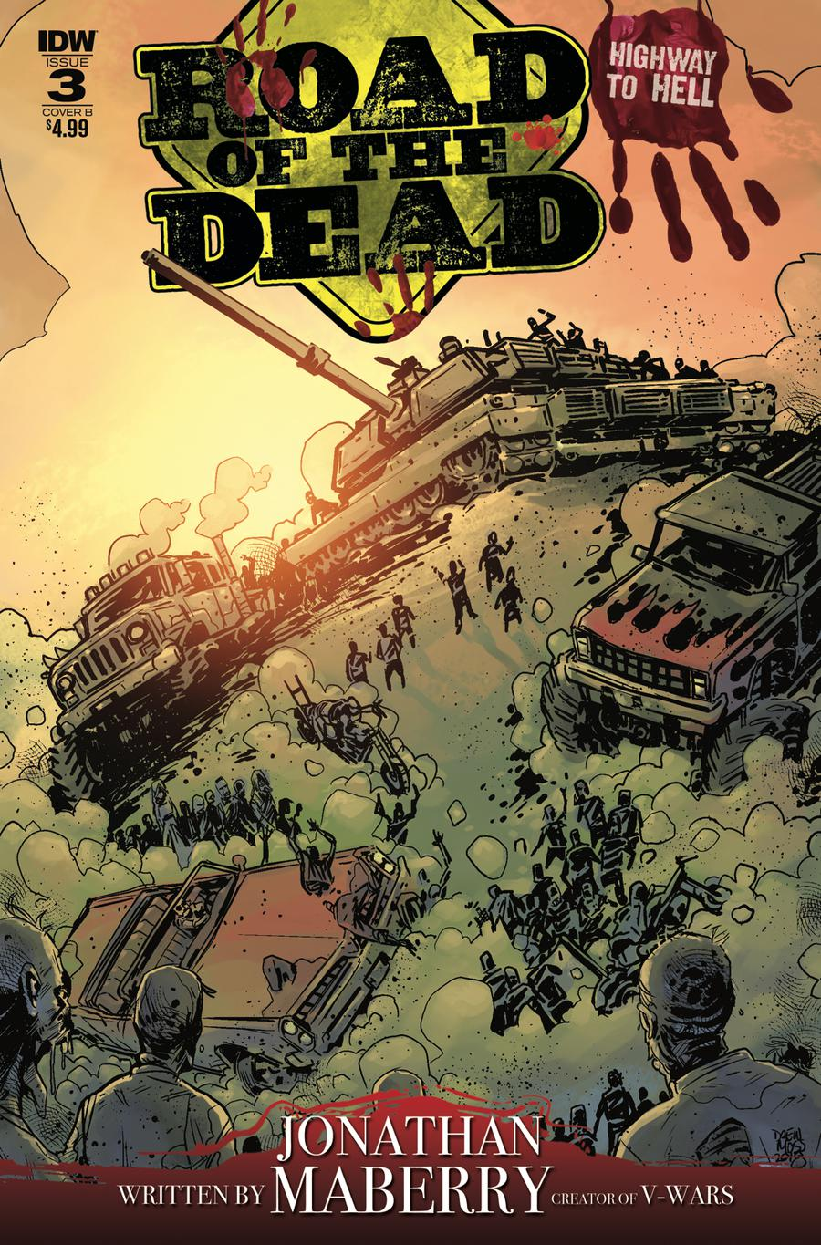 Road Of The Dead Highway To Hell #3 Cover B Variant Drew Moss Cover