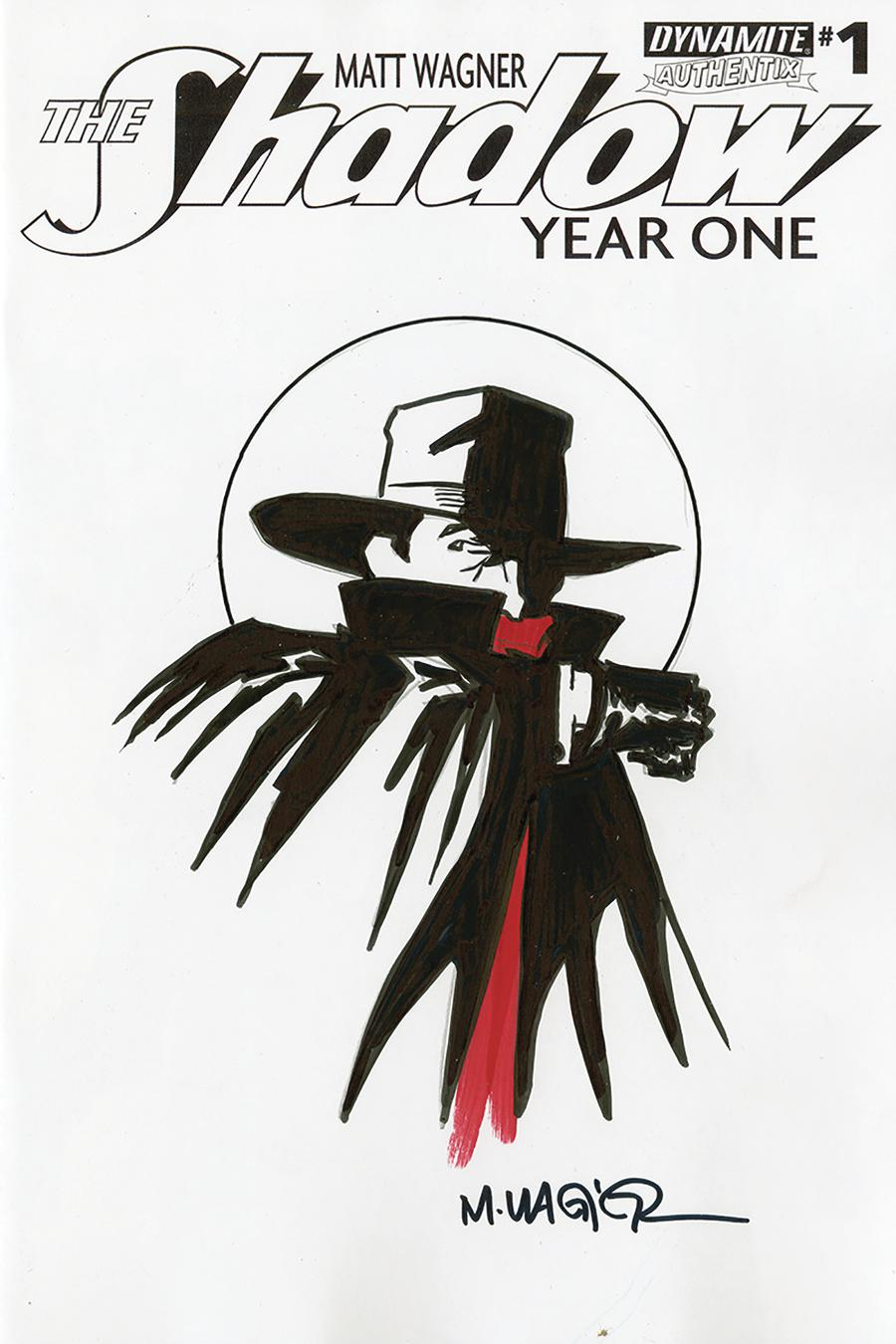 Shadow Year One #1 Cover P Remarked By Matt Wagner