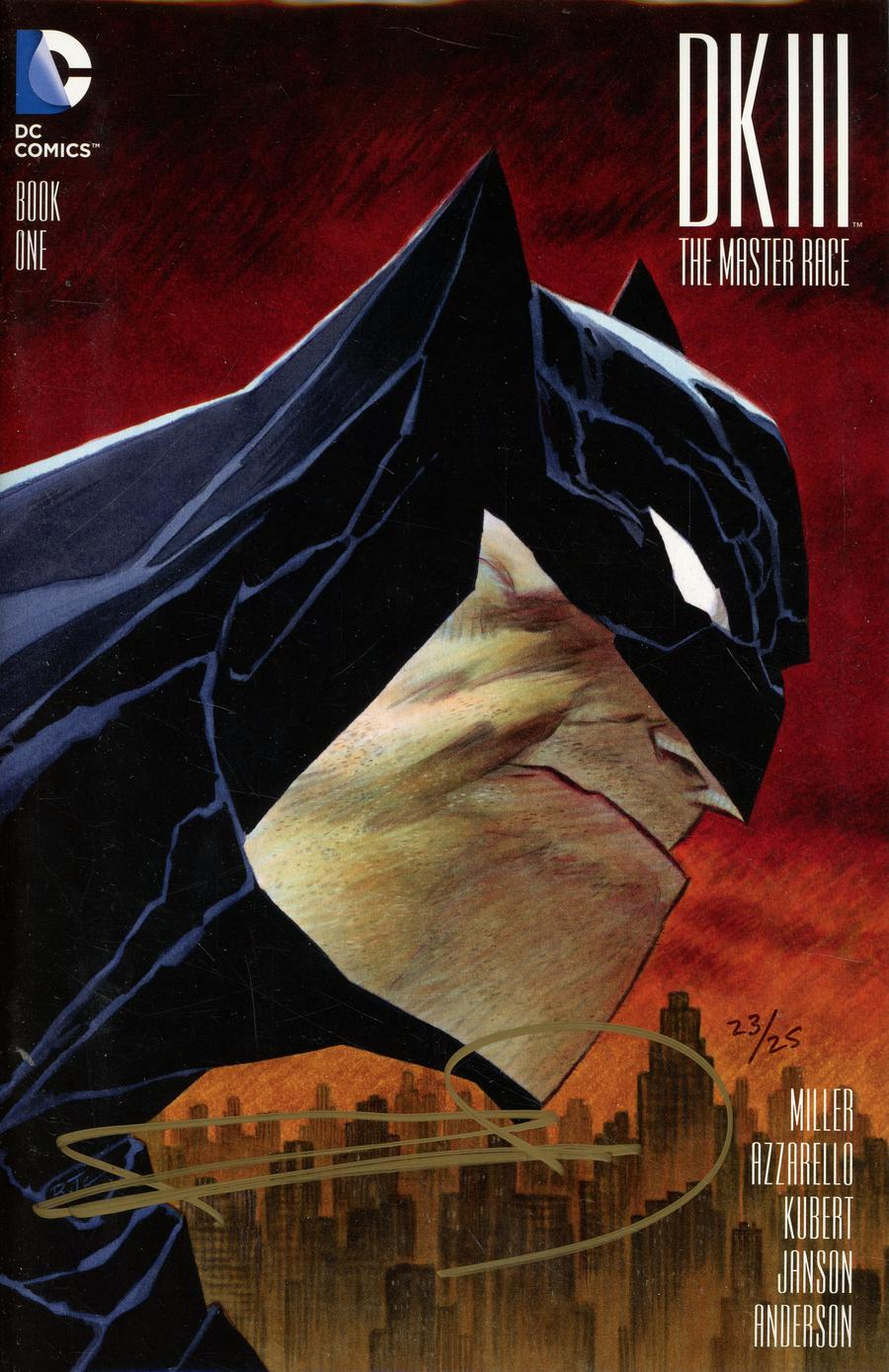 Dark Knight III The Master Race #1 Cover Z-Z-F DF Exclusive Bruce Timm Variant Cover Signed By Frank Miller