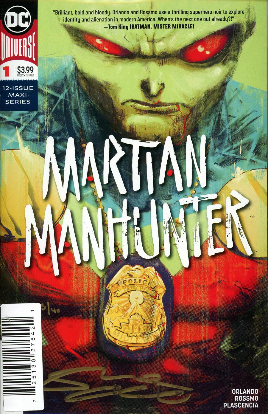 Martian Manhunter Vol 5 #1 Cover D DF Signed By Steve Orlando
