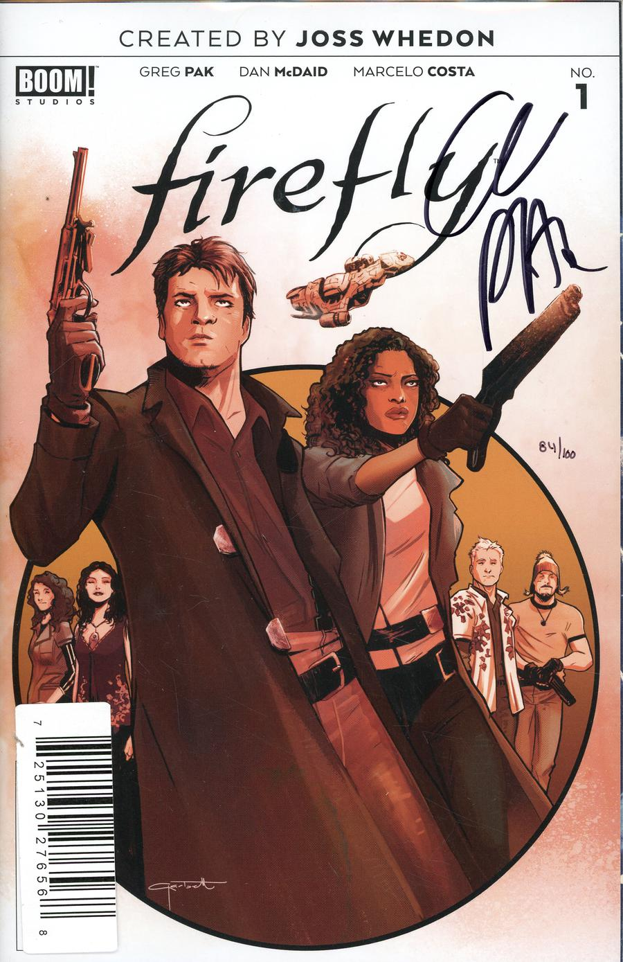 Firefly #1 Cover J DF Signed By Greg Pak