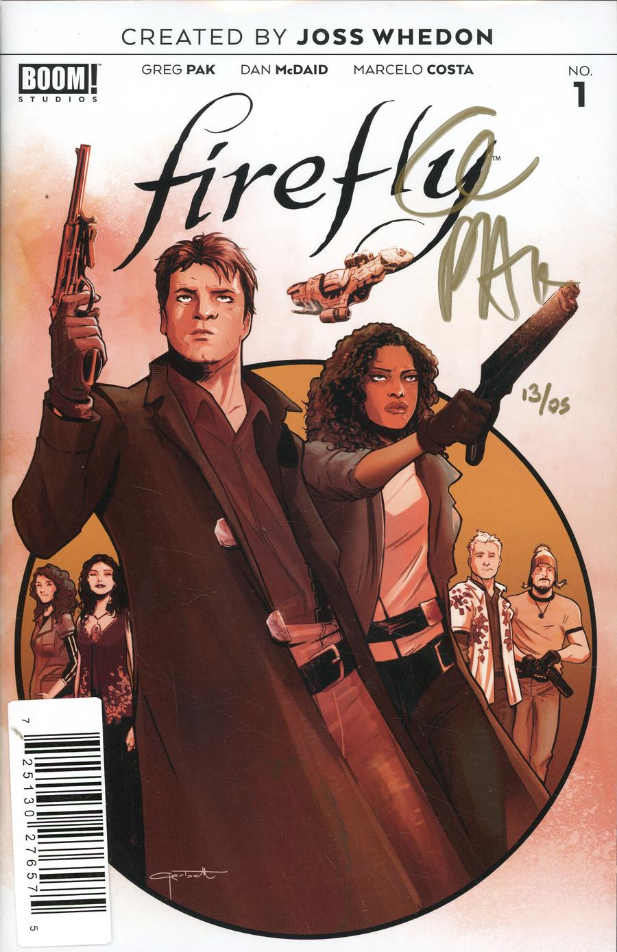 Firefly #1 Cover K DF Gold Signature Series Signed By Greg Pak