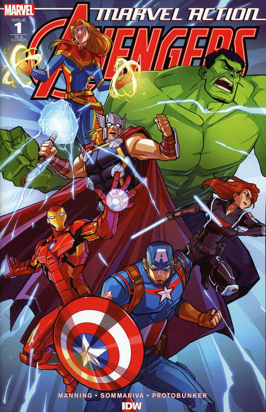 Marvel Action Avengers #1 Cover B Incentive Sara Pitre-Durocher Variant Cover