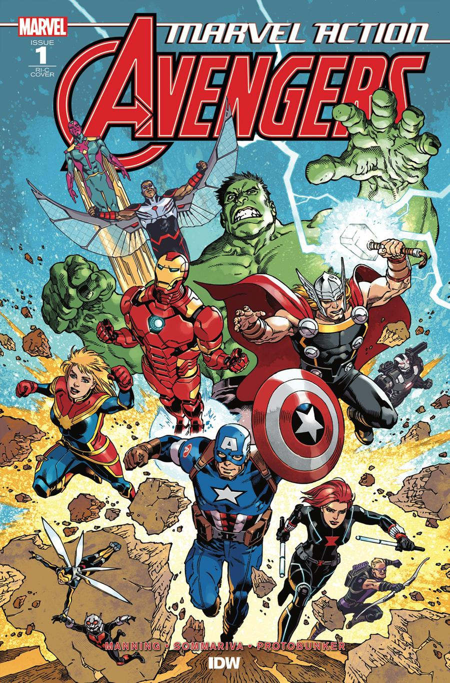 Marvel Action Avengers #1 Cover D Incentive Gabriel Rodriguez Variant Cover