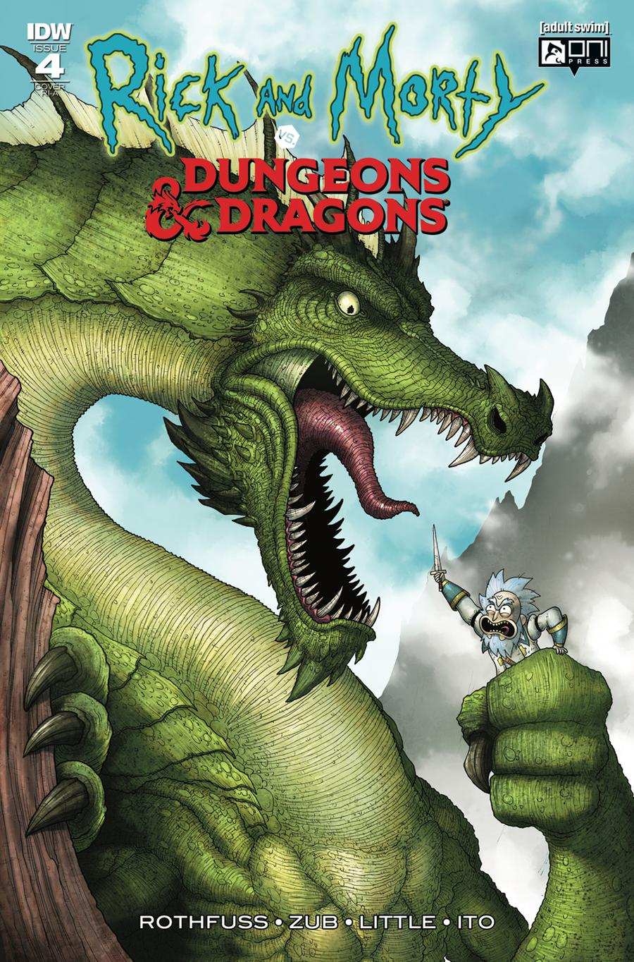 Rick And Morty vs Dungeons & Dragons #4 Cover C Incentive Mike Vasquez Variant Cover