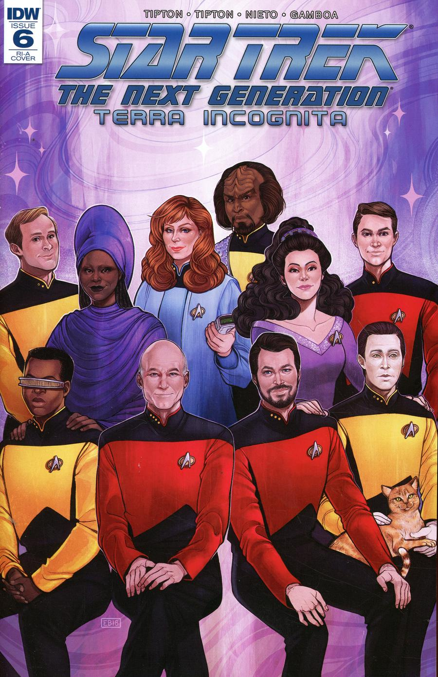 Star Trek The Next Generation Terra Incognita #6 Cover C Incentive Elizabeth Beals Variant Cover