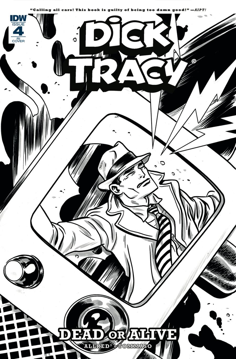 Dick Tracy Dead Or Alive #4 Cover C Incentive Michael Allred Coloring Book Variant Cover
