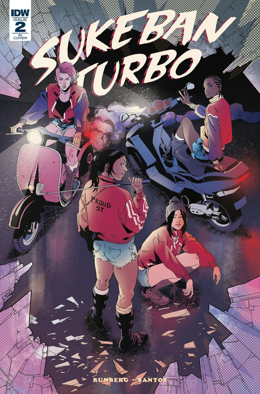 Sukeban Turbo #2 Cover B Incentive Claire Roe Variant Cover