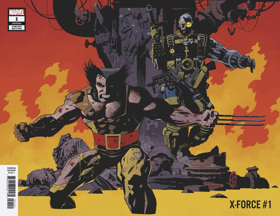 X-Force Vol 5 #1 Cover H Incentive Mike Mignola Remastered Variant Cover