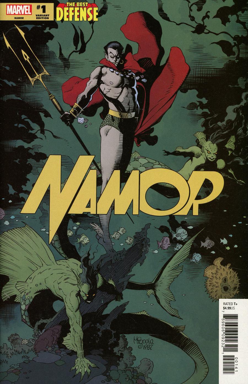 Defenders Namor #1 Cover E Incentive Mike Mignola Hidden Gem Variant Cover